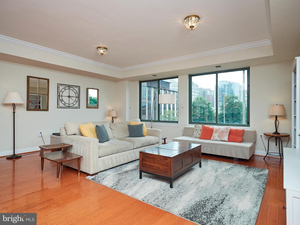 Gorgeous & Spacious Living area w/ wall of windows - 3625 10TH ST N #408, ARLINGTON