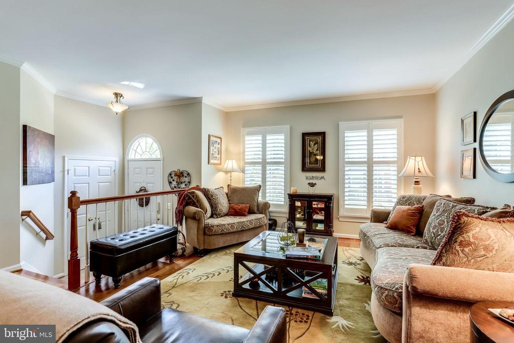 Open Family Room with Plantation Shutters - 20938 SANDSTONE SQ, STERLING