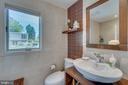 3rd floor contemporary bath. Toto/Groehe  fixtures - 13814 ALDERTON RD, SILVER SPRING
