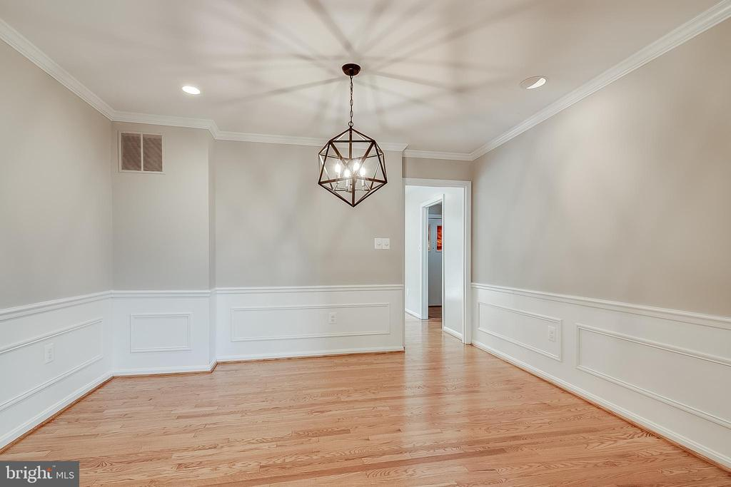 New light fixture in dining room and hallways - 667 N ARMISTEAD ST, ALEXANDRIA