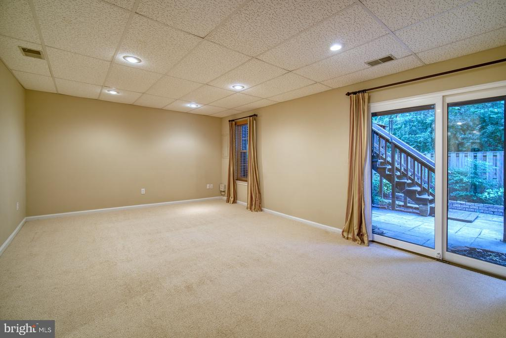 Fantastic recreation room walk out to back patio - 7104 BEDSTRAW CT, SPRINGFIELD