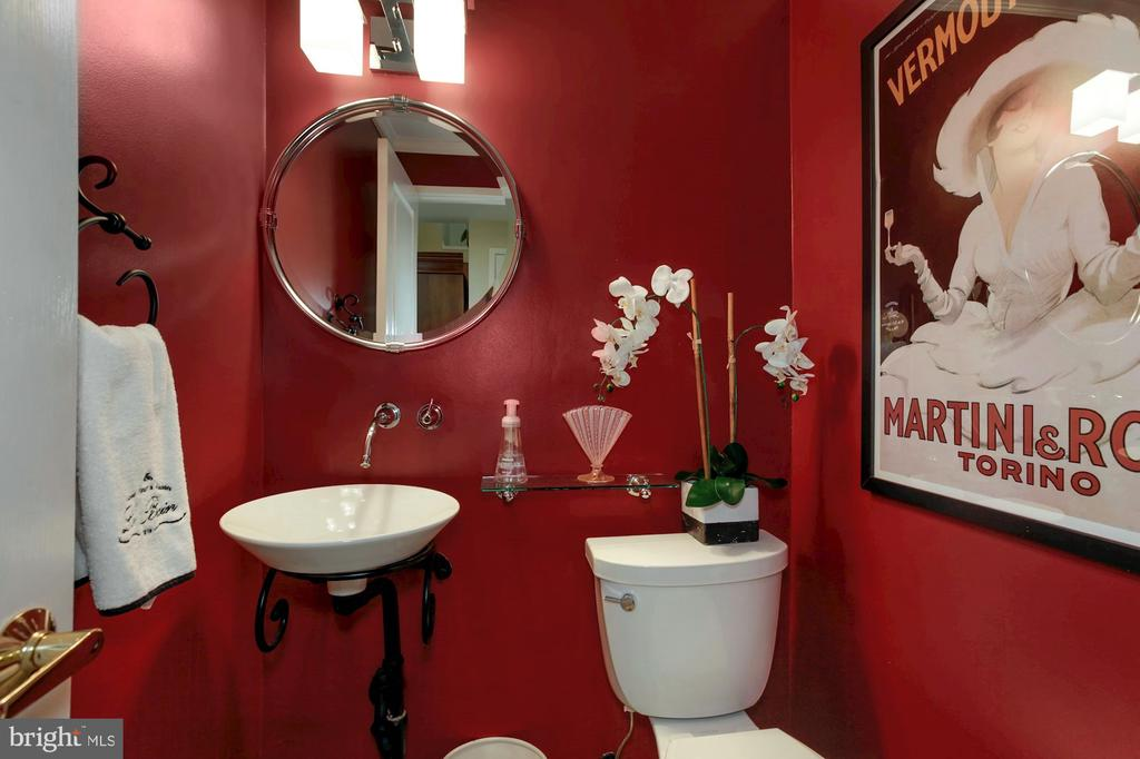 POWDER ROOM WITH VESSEL SINK  JUST OFF FOYER - 9500 WOODSTOCK CT, SILVER SPRING