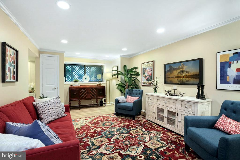 RECREATION ROOM WITH NEW FLOORING & COAT CLOSET - 9500 WOODSTOCK CT, SILVER SPRING