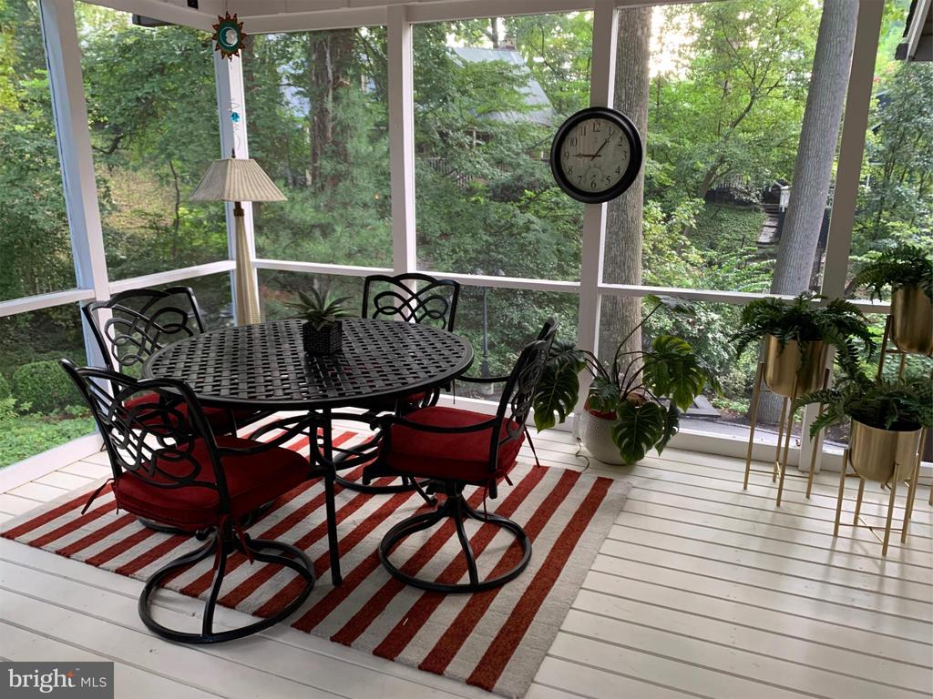 PORCH HAS ROOM FOR TV WATCHING PLUS DINING AREA - 9500 WOODSTOCK CT, SILVER SPRING
