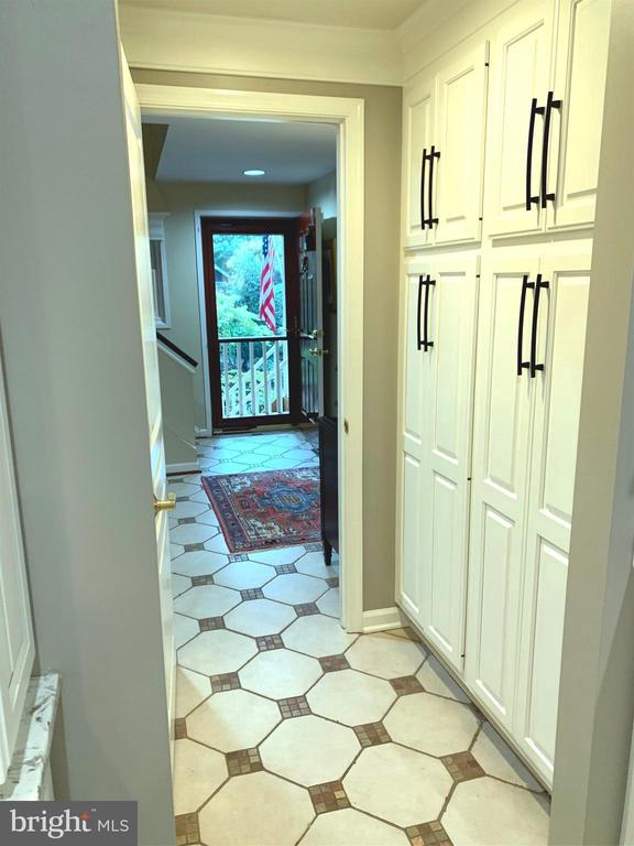 ADDITIONAL PANTRY STORAGE IN KITCHEN HALLWAY - 9500 WOODSTOCK CT, SILVER SPRING