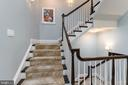 Open staircase on all 3 levels - 1845 POTOMAC GREENS DR, ALEXANDRIA