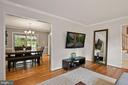 Living Room Opens Beautifully to Dining Room! - 9522 BACCARAT DR, FAIRFAX