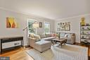 Living Room - Hardwood Floors - Light & Bright! - 9522 BACCARAT DR, FAIRFAX