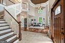 Welcoming Foyer with Cathedral Ceilings - 4389 OLD DOMINION DR, ARLINGTON