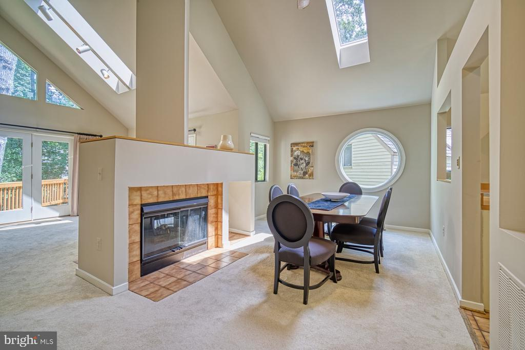 Dining Room With Two Sided Fireplace, Skylights - 11517 TURNBRIDGE LN, RESTON
