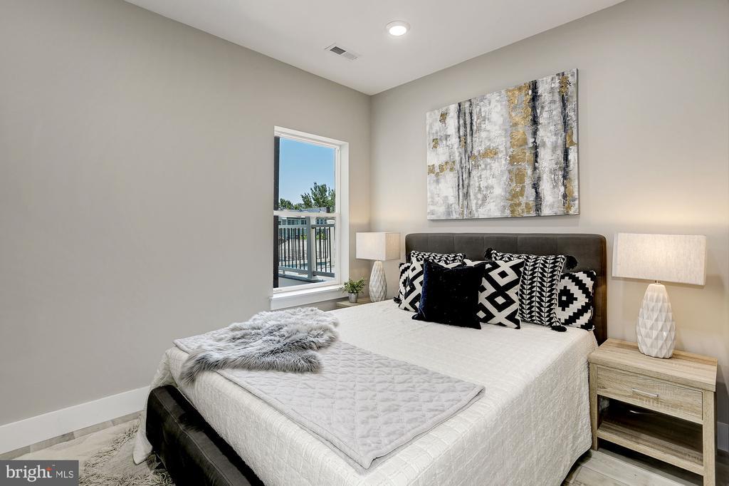 1 of 3 great bedrooms - 1206 LONGFELLOW ST NW #2, WASHINGTON