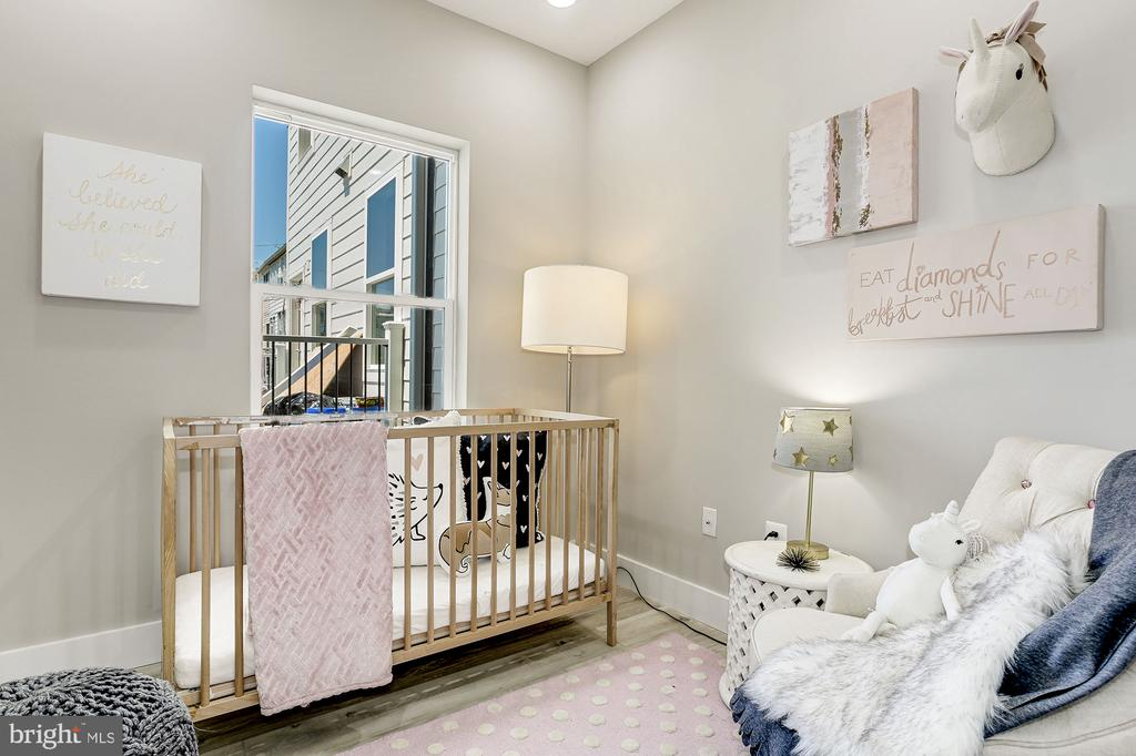 middle bedroom makes a great nursery - 1206 LONGFELLOW ST NW #2, WASHINGTON