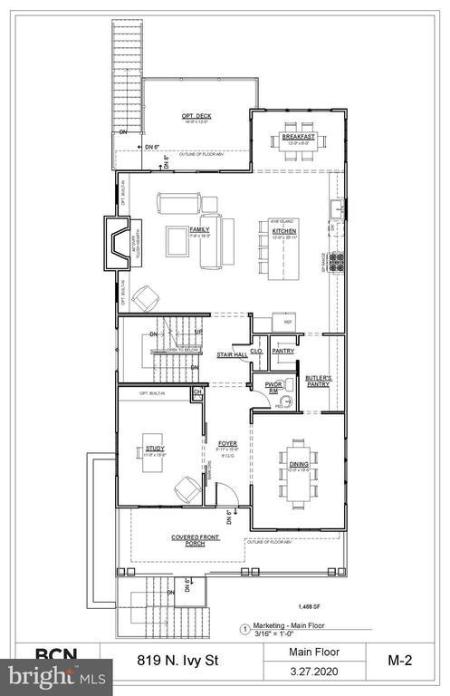 Main Level Plan. Variations may occur. - 819 IVY ST N, ARLINGTON