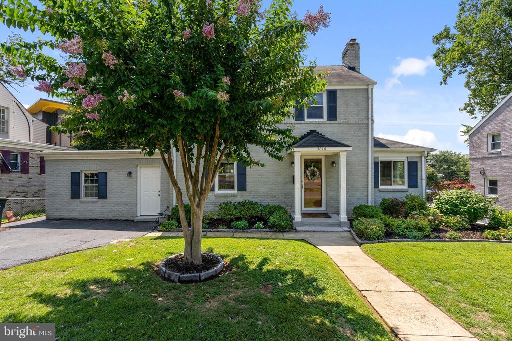venerable crepe myrtle graces front of the home - 3616 ARLINGTON BLVD, ARLINGTON