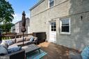 expansive deck with steps to grassy rear yard - 3616 ARLINGTON BLVD, ARLINGTON