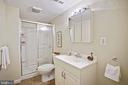 LL bath with oversized shower, vanity storage - 3616 ARLINGTON BLVD, ARLINGTON