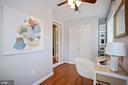 built-in shelves, deep closet, recent flooring - 3616 ARLINGTON BLVD, ARLINGTON