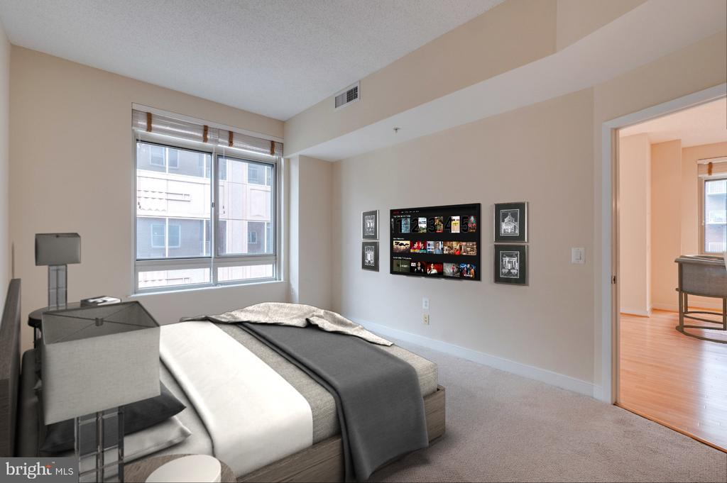 Virtually staged Owner Bedroom - 820 N POLLARD ST #603, ARLINGTON