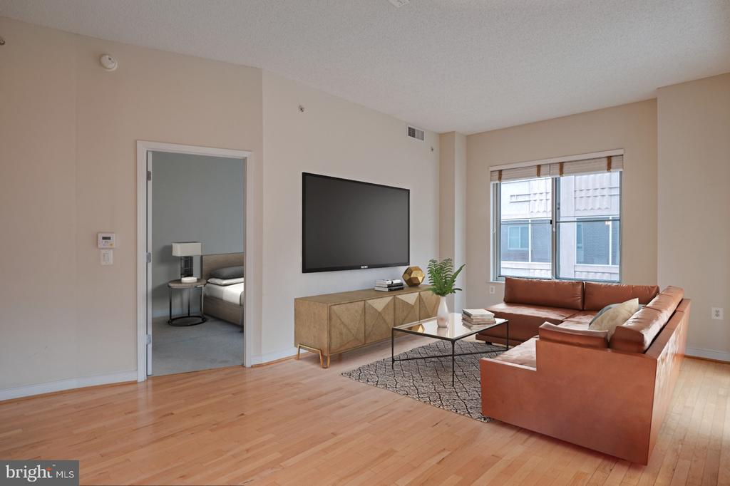 Virtually staged Living Room - 820 N POLLARD ST #603, ARLINGTON