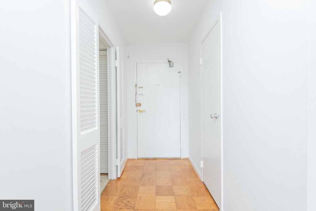 Front Foyer w Walk-In Coat Closet to Right - 9039 SLIGO CREEK PKWY #1610, SILVER SPRING