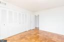 Bedroom - View to Hall Door - Unstaged - 9039 SLIGO CREEK PKWY #1610, SILVER SPRING