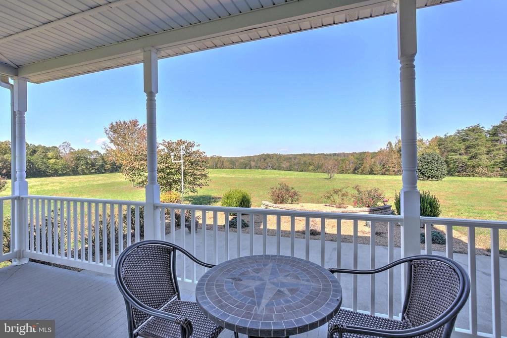 Rear Patio overlooking the farm - 2921 DUCKER DR, LOCUST GROVE
