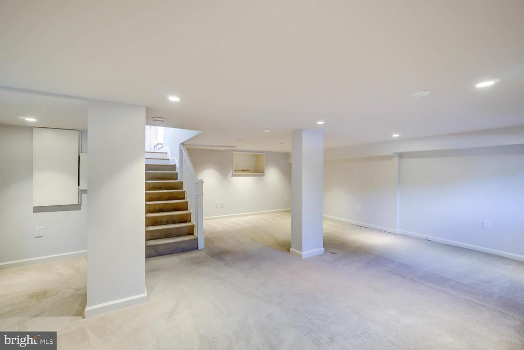 Expansive finished basement - 6.5 ft ceiling - 2900 FRANKLIN RD, ARLINGTON