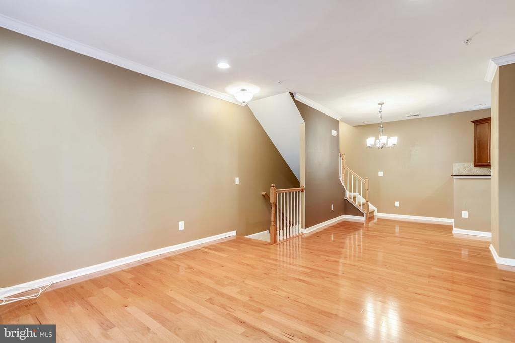 Beautiful hardwood flooring on the main level. - 20385 BELMONT PARK TER #112, ASHBURN