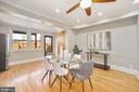 Rear windows and door allow lots of natural light - 332 CHANNING ST NE, WASHINGTON