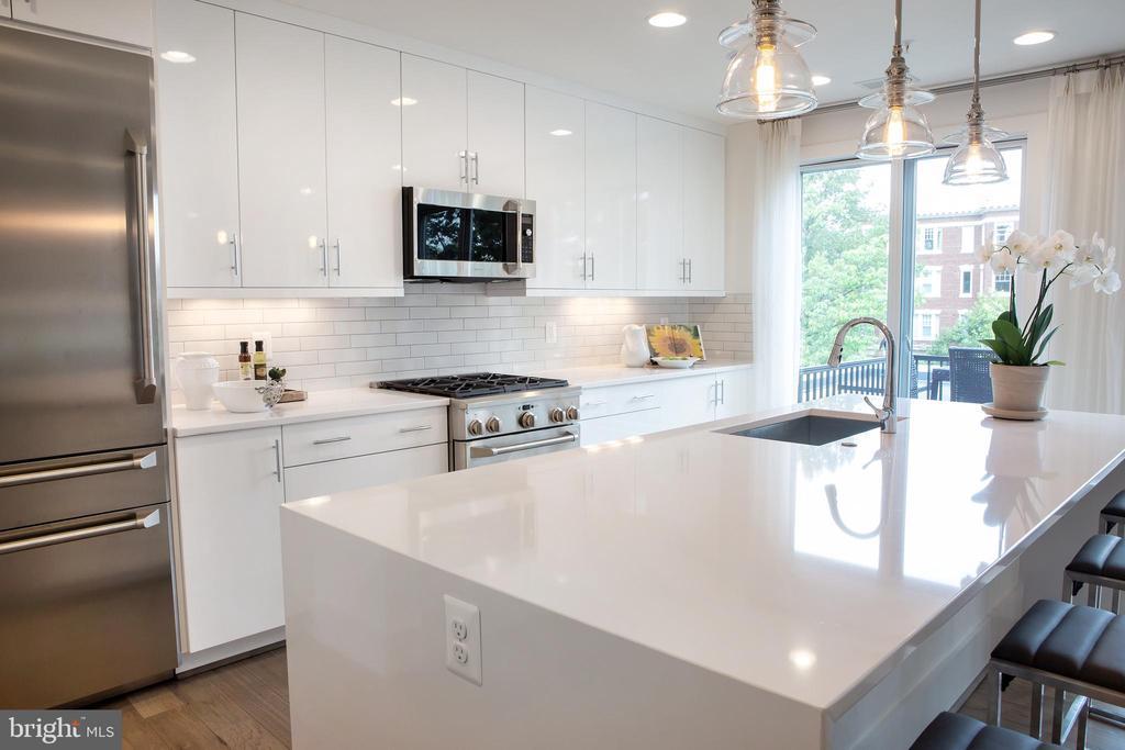 Expansive Kitchen Island - 645 MARYLAND AVE NE #201, WASHINGTON