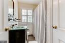 Upper level hall bath with tub and shower - 833 S FAIRFAX ST, ALEXANDRIA