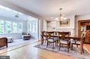 Spacious dining room with fireplace - 833 S FAIRFAX ST, ALEXANDRIA