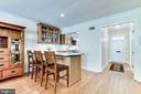Gourmet kitchen with island seating - 833 S FAIRFAX ST, ALEXANDRIA