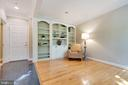 Built-ins in lower level - 181 CAMERON STATION BLVD, ALEXANDRIA
