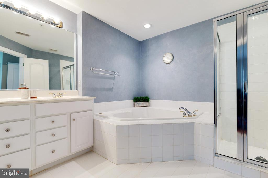Master Bath with jetted tub and shower - 181 CAMERON STATION BLVD, ALEXANDRIA