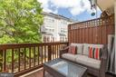 Tranquil Deck right off the kitchen - 181 CAMERON STATION BLVD, ALEXANDRIA