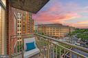 Northwest balcony view at sunset. - 1205 N GARFIELD ST #608, ARLINGTON