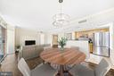 Dining space overlooking living room & kitchen - 1205 N GARFIELD ST #608, ARLINGTON