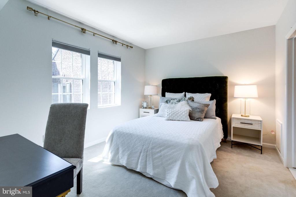 Bedroom is spacious - Queen Bed shown - 1741 N TROY ST #8-430, ARLINGTON