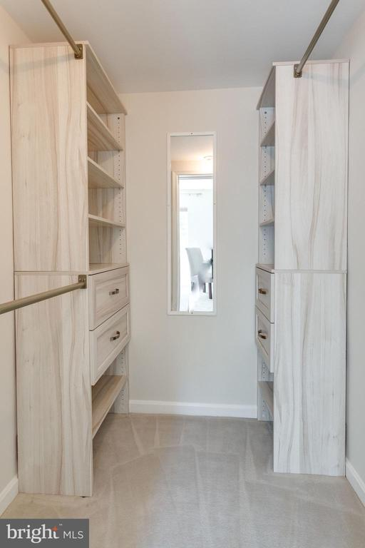 Walk In Closet with New Racking System & Drawers - 1741 N TROY ST #8-430, ARLINGTON