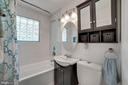Full Bathroom #1 - Updated w/ Modern Vanity! - 7326 RONALD ST, FALLS CHURCH