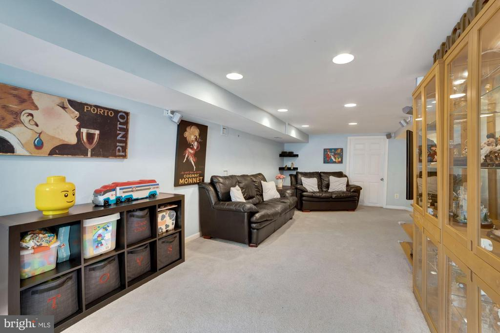 Family Room with Walk-Out Stairs to Outside! - 7326 RONALD ST, FALLS CHURCH