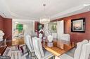 Fabulous dining room for entertaining! - 5630 WISCONSIN AVE #905, CHEVY CHASE