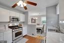 Kitchen - Brick Tile Floors! - 7326 RONALD ST, FALLS CHURCH