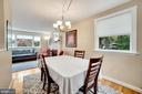 Dining Room - Super Light, Bright, & Airy! - 7326 RONALD ST, FALLS CHURCH