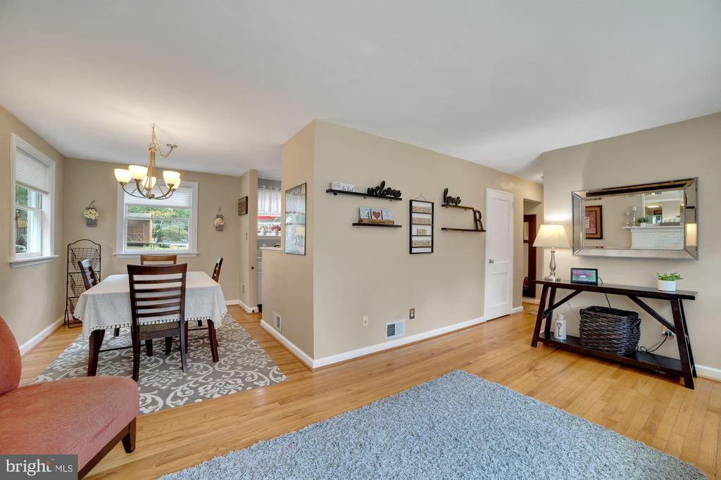 Living Room Opens Nicely to Dining Room! - 7326 RONALD ST, FALLS CHURCH