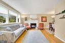 Lvg Rm  Features Charming Wood Burning Fireplace! - 7326 RONALD ST, FALLS CHURCH
