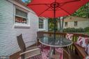 Deck - Kick Off Your Shoes & RELAX - YOU ARE HOME! - 7326 RONALD ST, FALLS CHURCH
