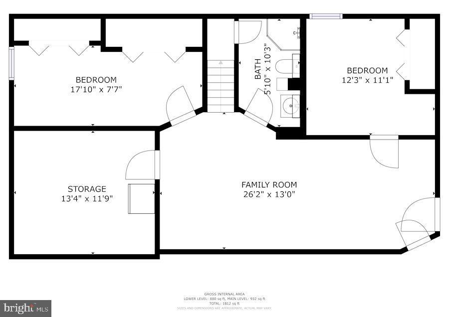 Floor Plan - Lower Level - 7326 RONALD ST, FALLS CHURCH