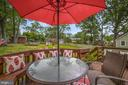 Deck with Expansive Views of Very Large Back Yard! - 7326 RONALD ST, FALLS CHURCH